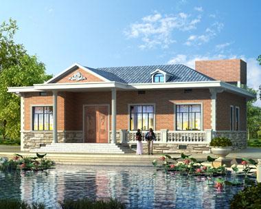一层套房式别墅建筑设计施工图纸15.6mx15m