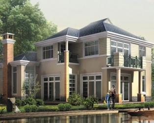 占地180平米二层大型现代豪华别墅建筑设计图纸17m×14m