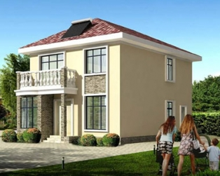 占地90平米二层新农村精致小别墅全套施工图纸8m×12m