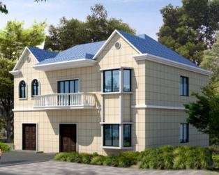 简洁大气二层带地下室房屋设计图含结构及效果图13m×10m