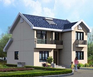 新农村自建房二层外观简洁别墅设计图纸10m×11.5m