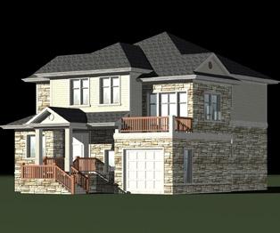 美式建筑豪华别墅带地下室及车库设计图纸 13m×15m