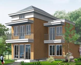 占地70平米新农村二层带阁楼小别墅全套建筑设计图纸8.5m×11.3m