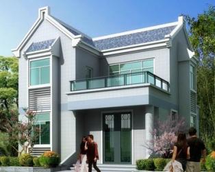 占地70平米新农村二层别墅带晒台全套设计图纸8mX9.7m