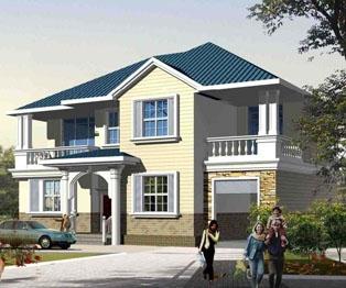 占地180平米二层带车库自建别墅全套设计图纸16m×12.7m