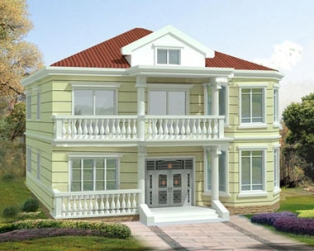 占地170平米新农村二层房屋设计全套施工图纸12m×12m