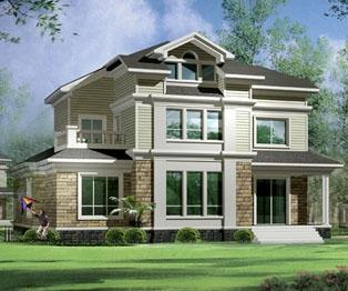 两层半带地下窒高档欧式别墅设计建筑图纸17m×13m