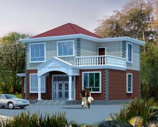占地100平米新农村简洁带露台二层小别墅设计图纸11m×9m