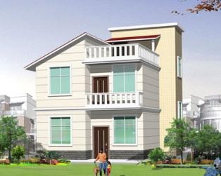 占地70平米二层半漂亮小别墅全套设计施工图纸8m×10m
