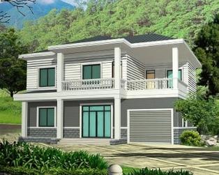 占地142平米二层现代简约带车库小别墅全套设计图纸12m×13m