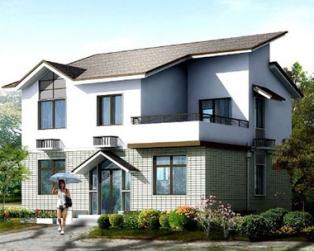 占地80平米上海私人定制优雅二层别墅设计图纸10m×8m
