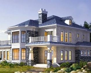 占地120平米欧式风格二层别墅建筑结构及水电施工图纸 12mx11m
