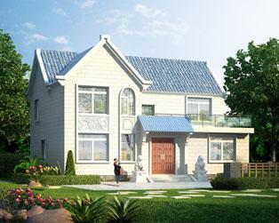 占地130平米二层现代化小康别墅设计全套施工图纸13.5mx9m