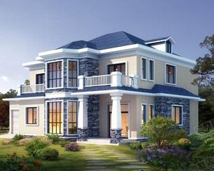 二层简欧式带车库别墅全套结构施工及水电图纸 16mx12m