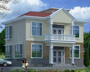 占地90平米二层新农村小别墅设计图纸全套及效果图11m×9m