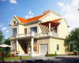 经典大方二层小别墅带车库全套设计图纸11.4mx10.6m
