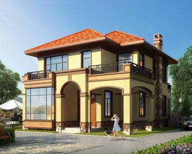 二层高端大气欧式别墅全套建筑设计图纸11.2mx16.1m