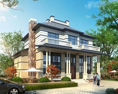 占地150平米二层精致带车库别墅全套设计图纸13.54mx13.47m