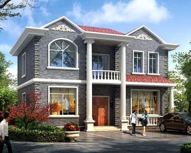 二层精致实用农村别墅建筑设计图纸11.8mx8.5m