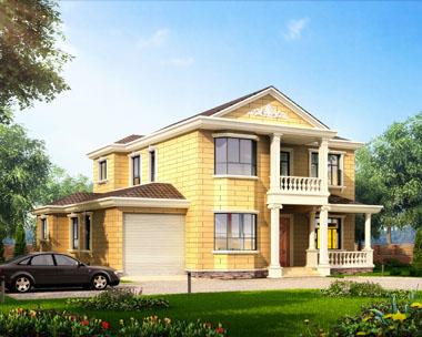 二层经典简洁大气别墅全套建筑设计图纸15.54mx13.47m