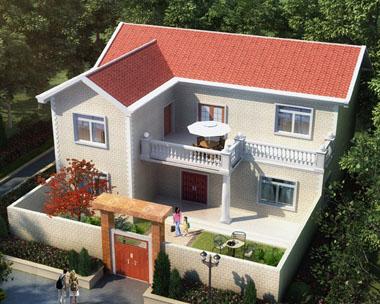 城乡建设二层小康庭院别墅设计全套施工图纸15.5mx13.5m