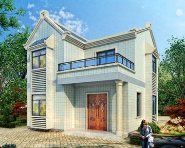 二层精致力农村小型别墅全套施工图纸9.2mx11.2m