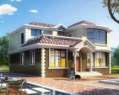 占地140平米二层高端豪华别墅全套建筑设计图纸11.1mx12.6m