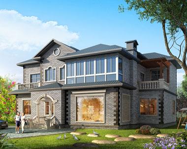 二层经典复式楼中楼豪华别墅设计施工图纸16.8mx13.5m