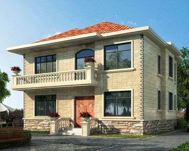 二层现代新农村小别墅建筑施工图纸12mx11.24m