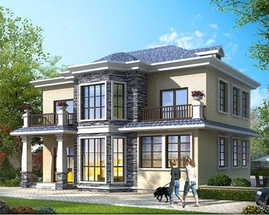 占地120平米二层简欧带内阳台别墅建筑施工图纸13mx10m