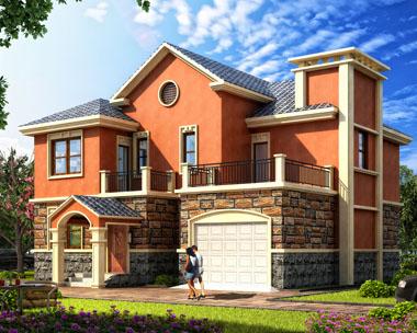二层现代农村欧式漂亮别墅建筑图纸13.9mx12.2m