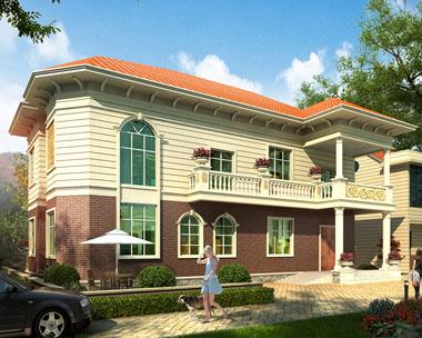 占地190平米二层新农村现代简洁别墅施工图纸18mx10m