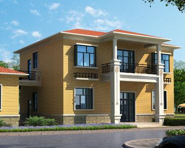 二层经济简洁实用别墅及杂房设计建筑图纸12.6mx9.6m