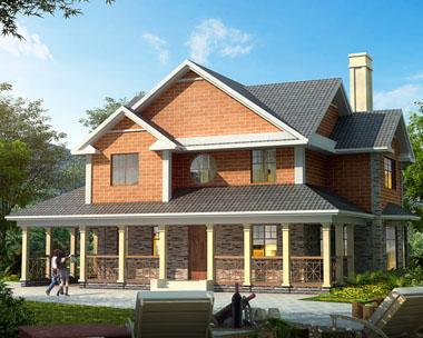二层带车库欧式漂亮别墅设计施工图纸17mx15.6m