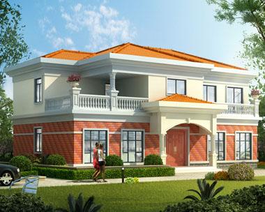 占地180平米简洁大气二层实用别墅建筑设计图纸16.9mx10m