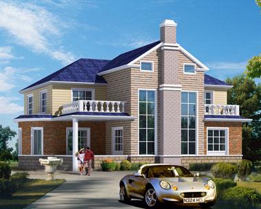 带车库漂亮复式楼中楼二层别墅设计施工图纸18mx13.5m