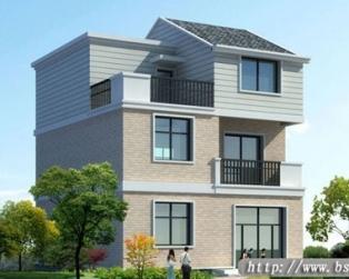 315号新农村三层简洁别墅住宅设计图纸10米×10.14米