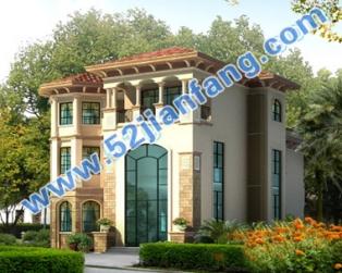 豪华欧式框架结构三层带地下室别墅建筑设计图纸15米×17米