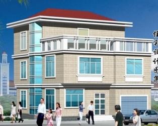 三层农村带车库简洁别墅建筑结构设计图纸9米×12米