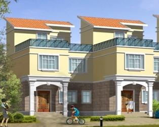 占地120平米三层实用联排别墅建筑设计图纸8米×16米