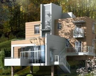 871三层山坡地架空别墅全套设计图纸12米×11米