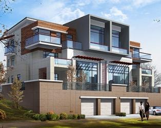 659三层带地下车库联排豪华别墅设计图纸24米×13米