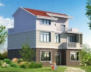 占地120平米三层自建别墅带露台住宅设计图纸 12米×10米