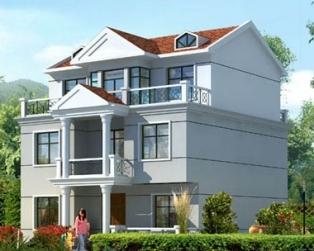 三层120平米新农村别墅自建房房图纸11米×10米