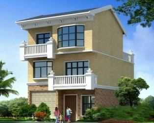 新农村住宅三层房屋建筑设计图纸8.5米×10米