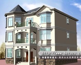 678某私人三层自建新农村房屋欧式别墅设计施工图纸12米×11米