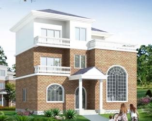 619新农村三层占地150平米住宅别墅设计图纸11米×11米