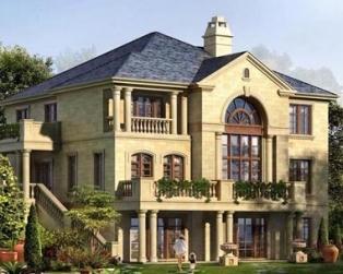 三层欧式坡地豪华别墅带地下室设计施工图纸18米×20米