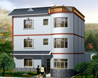 占地120平米新农村现代三层别墅全套设计图纸11米×11米
