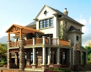 644三层豪华西班牙别墅建筑带屋顶花园设计图纸13米×18米
